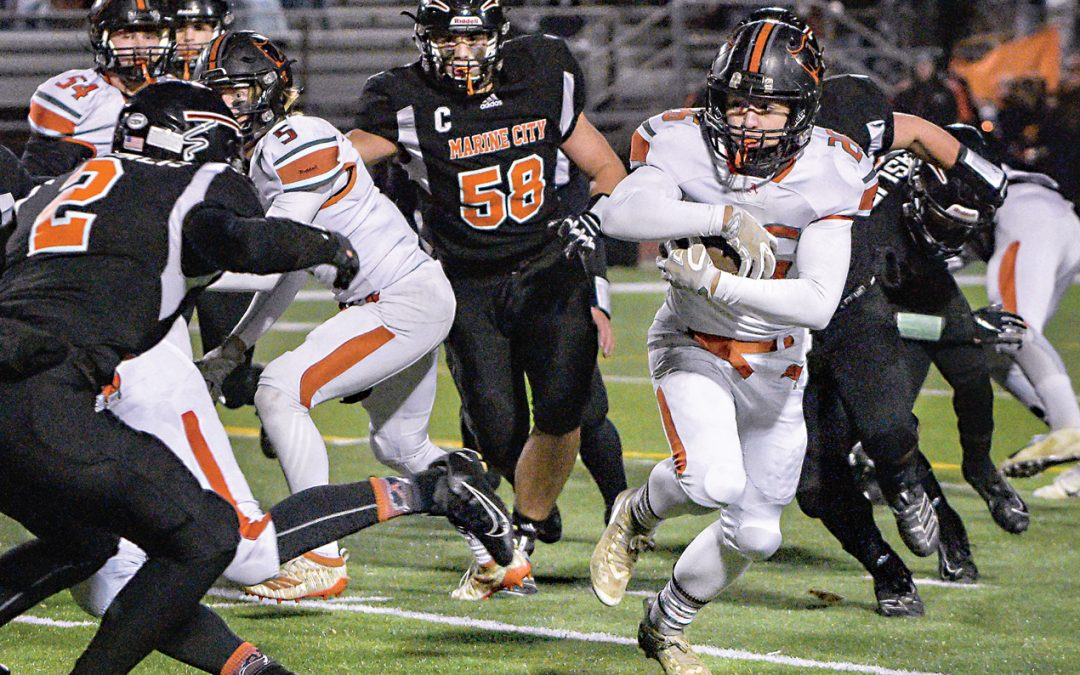 Almont wins title, 22-20