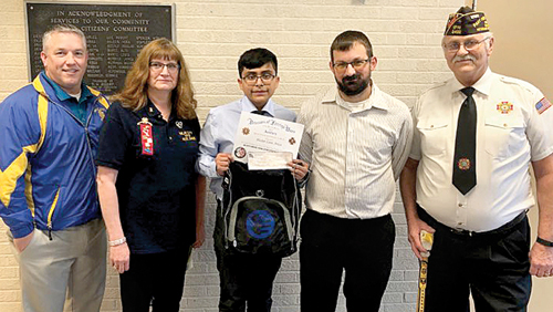 Imlay City VFW essay winner to state level