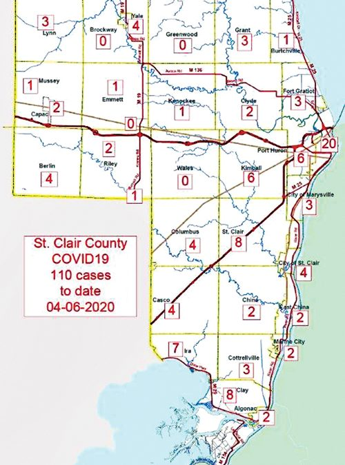 St. Clair County starts mapping virus cases