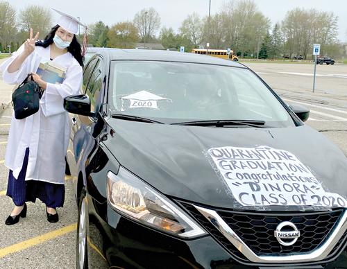 Almont's graduation  was 'virtual' success