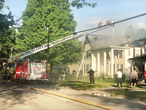 Historic home incurs major fire damage