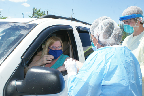 Locals take advantage of free COVID-19 tests in Imlay