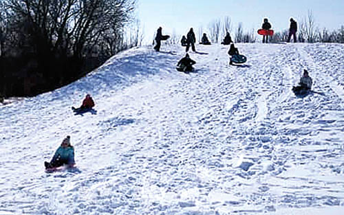 Sled hill for children opens at Lions Park