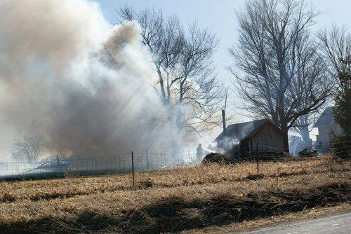 Garage fire spread quickly